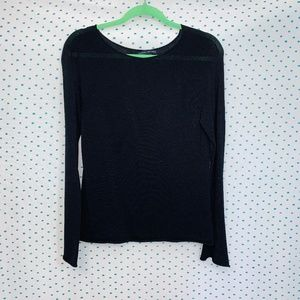 Banana Republic Black Stretch Scoop Neck Sweater